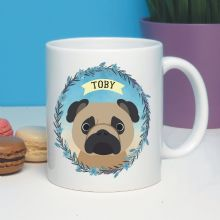 Personalised Dog Mug - Pug, Shih-Tzu, Beagle, Labradoodle - Ideal Pet gift for a dog owner